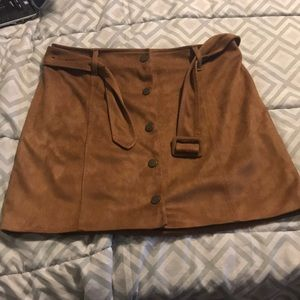 EUC - M - Forever 21 Faux Suede Mini Skirt